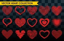 Differents projektuje czerwonego kierowego wektorowego ikony miłości walentynki symbol i romantycznego projekta poślubiać pięknyc ilustracja wektor