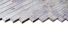 Differentsize of wooden laths wooden laths close-up, may be used Royalty Free Stock Photography