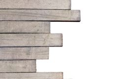Differentsize of wooden laths wooden laths close-up, may be used Royalty Free Stock Photo