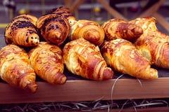 Differentssoorten croissants Royalty-vrije Stock Foto's