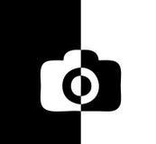 Differenza comica in bianco e nero dell'icona di Camer Fotografia Stock