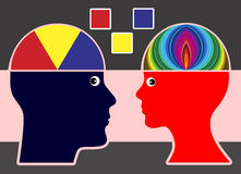 Differenza nella creatività Immagine Stock
