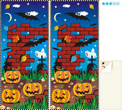 Differenze del punto dieci - Halloween illustrazione di stock