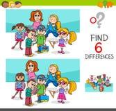 Differenze del ritrovamento con i caratteri degli scolari Fotografia Stock