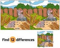 Differenze del ritrovamento (topi) Fotografia Stock