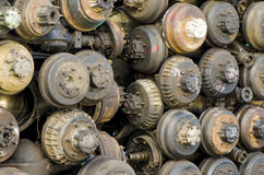Differenziale, ingranaggio finale di vecchie automobili Immagini Stock