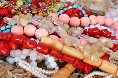 Differnt beads. Colors. Royalty Free Stock Photos