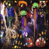 Different Halloween Decorations Royalty Free Stock Image
