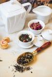 Diffferent tea set Royalty Free Stock Photo