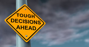 Difficile et décisions difficiles Photographie stock libre de droits