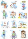 Difficoltà dei bambini di estate Fotografia Stock