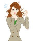 Difficoltà dei capelli, capelli di diffusione illustrazione vettoriale