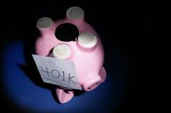 Difficoltà dei soldi di pensione Immagini Stock Libere da Diritti