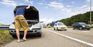 Difficoltà dell'automobile di Mortorway Immagini Stock Libere da Diritti
