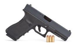Difficoltà della pistola Fotografia Stock