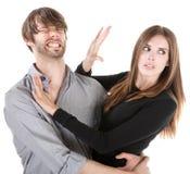 Difficoltà delle coppie Immagini Stock