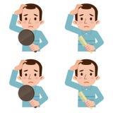 Difficoltà di capelli d'assottigliamento Immagine Stock