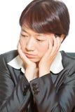 Difficoltà di Thinking/In Fotografia Stock Libera da Diritti