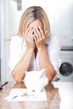Difficoltà finanziaria Fotografie Stock