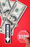 Difficoltà finanziaria Fotografia Stock