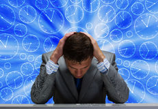 Difficoltà nell'affare Immagine Stock