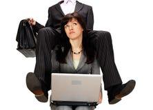 Difficoltà routine del lavoro. concetto Fotografia Stock Libera da Diritti
