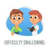 Difficulté avalant le concept médical Illustration de vecteur illustration stock