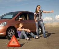 Difficulté biseautée notre véhicule ! Images libres de droits