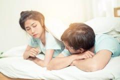 Difficultés de relations, conflit et concept de la famille Images stock