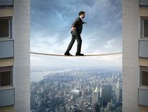 Difficult business. Concept of businessman and difficult business stock image