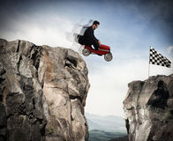 Difficult career and achievement business goal Stock Image