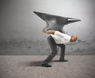 Difficult career in business. Concept of difficult career in business Stock Images
