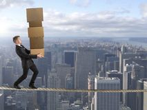 Difficult career in business Stock Images