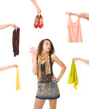 Difficult choice Stock Photography