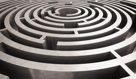 Difficult circular maze Stock Photography