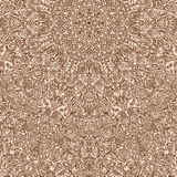 Difficult circular pattern composed of curls and spirals drawn v. Ector background carpet BROWN Royalty Free Stock Photography