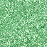 Difficult circular pattern composed of curls and spirals drawn v. Ector background carpet GREEN Stock Image