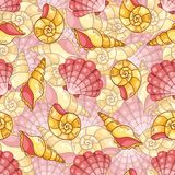 Difficult cockleshells seamless pattern Royalty Free Stock Images