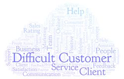 Difficult Customer word cloud. vector illustration
