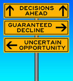 Difficult decision Royalty Free Stock Photo