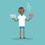 Difficult decision. Yes or no. Conceptual illustration Royalty Free Stock Photography