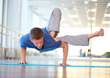 Difficult exercise Stock Image