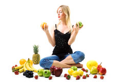 Difficult fruity decision Royalty Free Stock Image