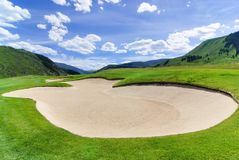 Difficult golf course. Challenging golf course in Colorado Royalty Free Stock Images