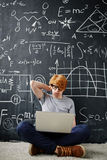 Difficult homework Royalty Free Stock Image