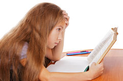 Difficult homework Royalty Free Stock Photography