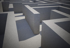 Difficult maze. Difficult dark grey maze puzzle Royalty Free Stock Photography