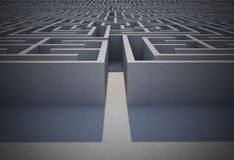 Difficult maze puzzle Royalty Free Stock Images