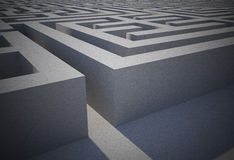 Difficult maze puzzle Stock Photos