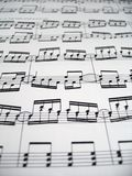 Difficult Music. A sheet of difficult sheet music stock image
